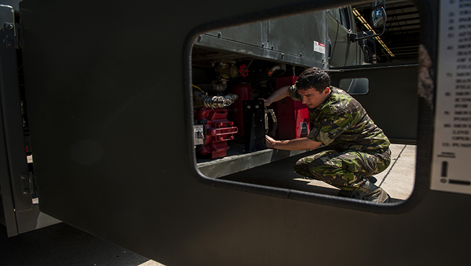 Romanian soldier, U.S. continue NATO's mission of peace